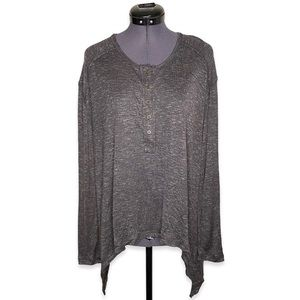 Gentle Fawn 3/4 Button Front Tail End Long Sleeve
